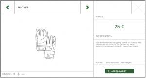 Handschuhe für Helideck